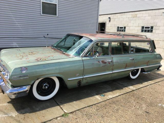 1963 chevrolet impala wagon super hard to find impala. Black Bedroom Furniture Sets. Home Design Ideas