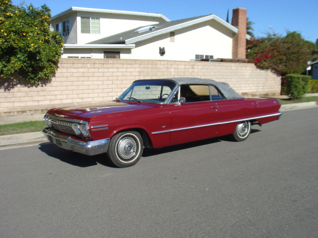 1963 chevy impala convertible all original 1962 1964 for sale chevrolet impala 1963 for sale. Black Bedroom Furniture Sets. Home Design Ideas