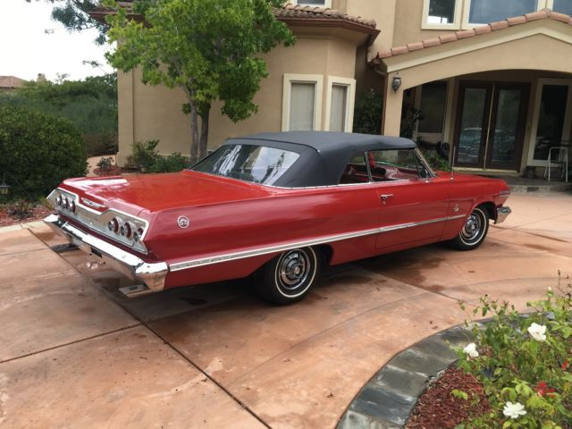 1963 chevy impala super sport convertible 4 speed for sale chevrolet impala ss 1963 for sale. Black Bedroom Furniture Sets. Home Design Ideas