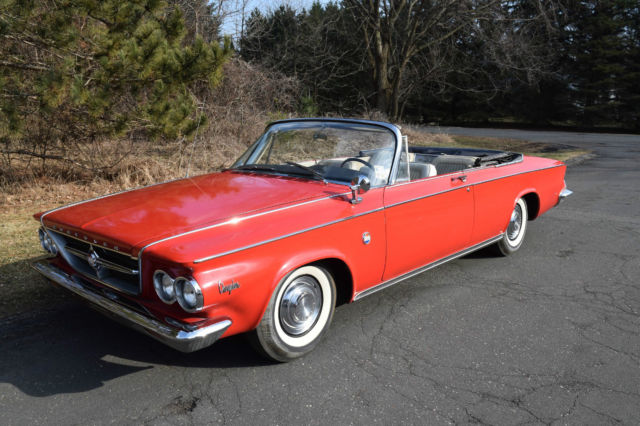1963 chrysler 300 convertible one owner nice selling no - Chrysler 300 red interior for sale ...