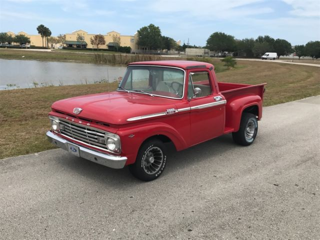 1963 Ford F100 Short Bed Step Side Pick Up For Sale Ford