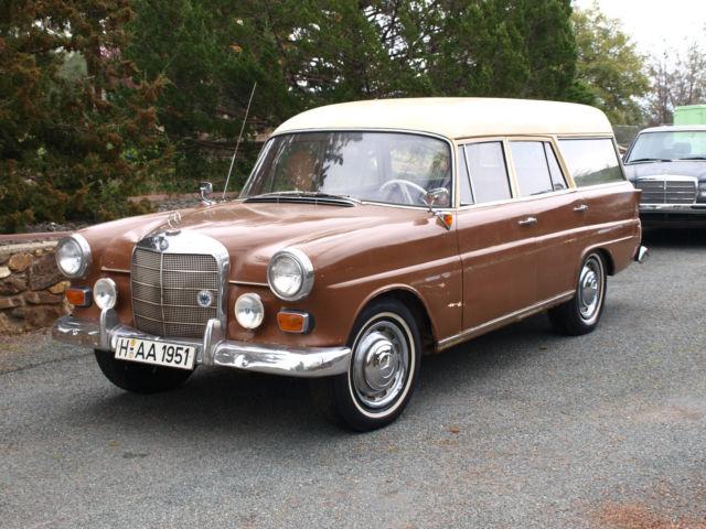 1963 mercedes benz 190d binz coachbuilt fintail station for Mercedes benz station wagon