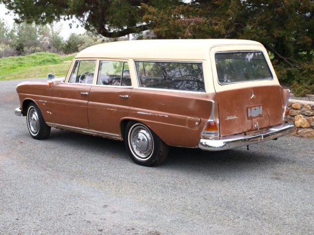 1963 mercedes benz 190d binz coachbuilt fintail station for Mercedes benz wagon for sale