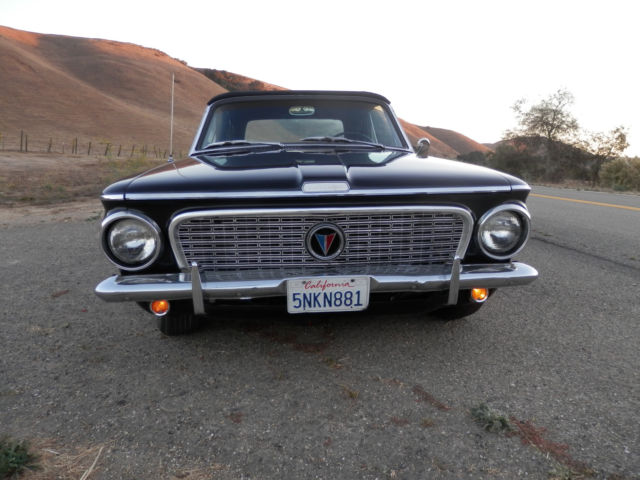 1963 Plymouth Valiant V 8 At Convertible Triple Black