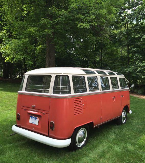 1963 Red Amp White Vw 23 Window Van For Sale Volkswagen 23