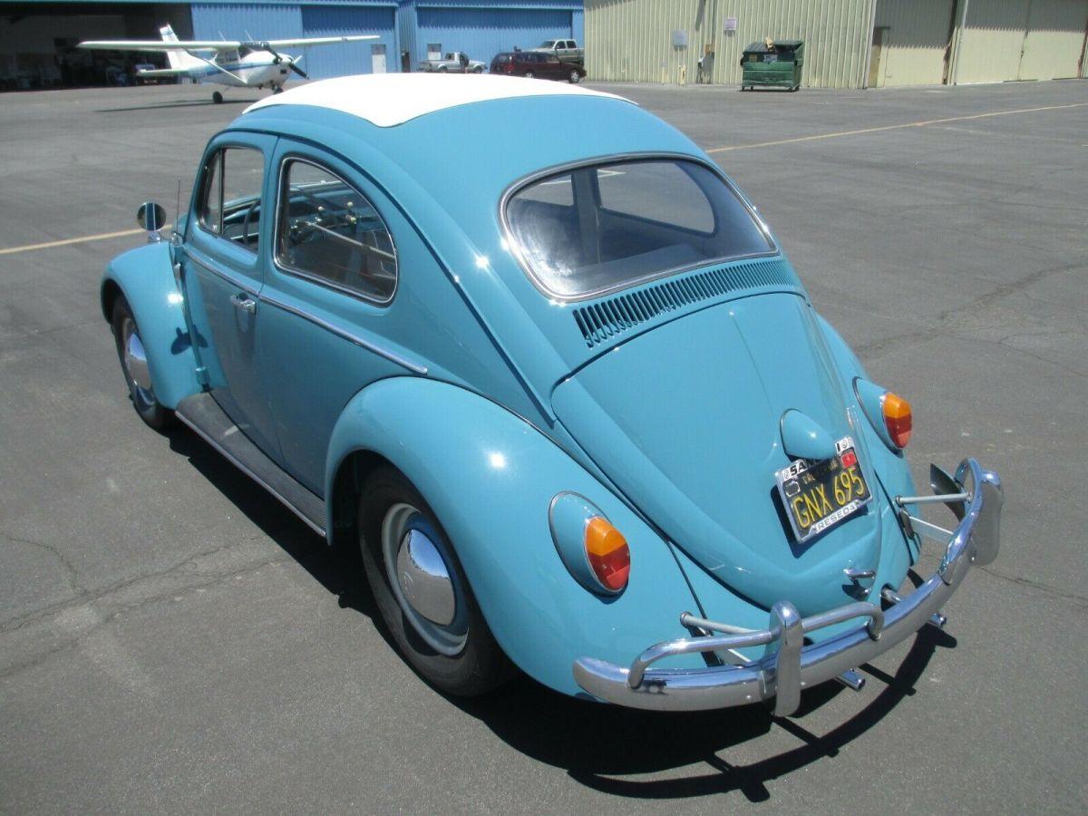 1963 Vw Beetle  Factory Ragtop Sunroof  Excellent  Rust