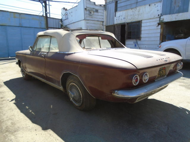 1964 chevrolet corvair monza convertible project car no reserve for sale chevrolet corvair. Black Bedroom Furniture Sets. Home Design Ideas
