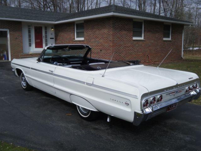 1964 chevrolet impala convertible 4 speed sharp car like 1961 1962 1963 look for sale. Black Bedroom Furniture Sets. Home Design Ideas