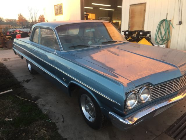 1964 Chevy 2 Door Bel Air Impala 4 Speed 350 For Sale