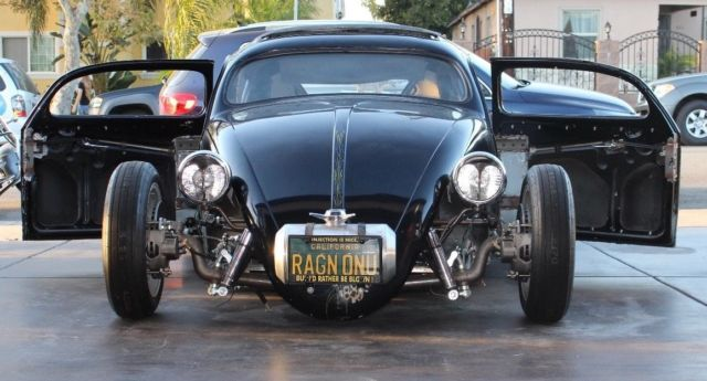 Chopped Vw Bug Supercharged With Side Draft Webers Chopped Rag Top