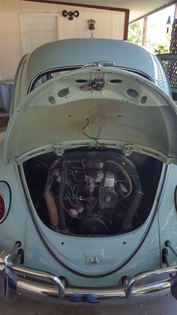 1964 collectors seafoam green vw bug original engine and miles for sale volkswagen beetle. Black Bedroom Furniture Sets. Home Design Ideas