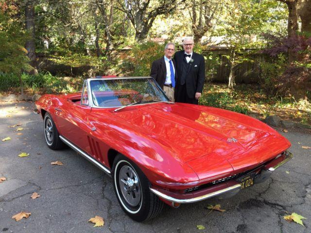 1965 Cherry Apple Red Chevrolet Corvette Convertible For