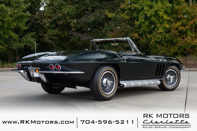 Team Charlotte Motorsports >> 1965 Chevrolet Corvette 51567 Miles Glen Green Convertible 327/365hp L76 V8 4 S for sale ...