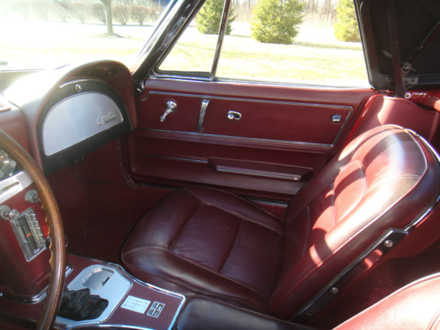 1965 corvette convertible milano maroon with maroon interior and power windows for sale. Black Bedroom Furniture Sets. Home Design Ideas