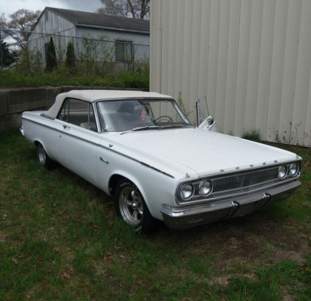 1965 Dodge Coronet 500 Convertible Soft Top Antique White Old Car For Sale Dodge Coronet 1965