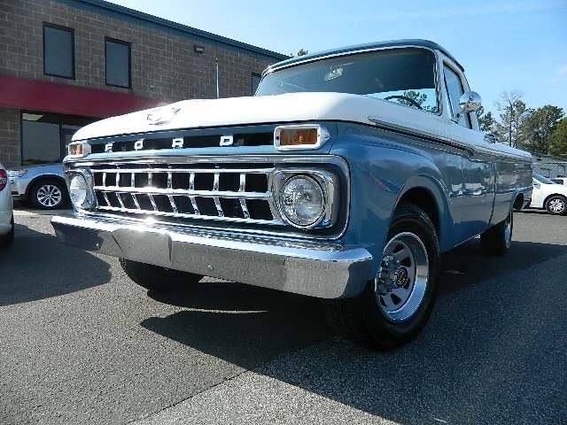 1965 ford f 100 long bed truck 51295 miles blue pickup truck v8 other manual 3 s for sale ford. Black Bedroom Furniture Sets. Home Design Ideas