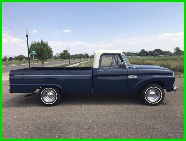1965 ford f 100 pickup 352ci v8 4 speed manual transmission rwd truck for sale ford f 100. Black Bedroom Furniture Sets. Home Design Ideas