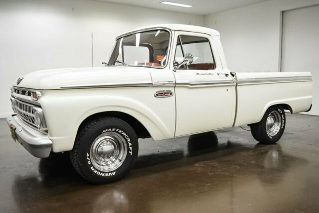 1965 Ford F100 10021 Miles White Pickup Truck 390 Big Block