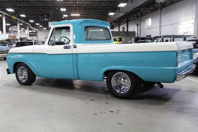 1965 ford f100 2883 miles turquoise pickup truck 351 windsor v8 c6 for sale ford f 100 1965. Black Bedroom Furniture Sets. Home Design Ideas