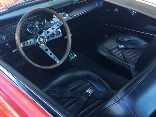 1965 Ford Mustang 2 2 Fastback 289 Automatic Rangoon Red With Black Interior For Sale Ford