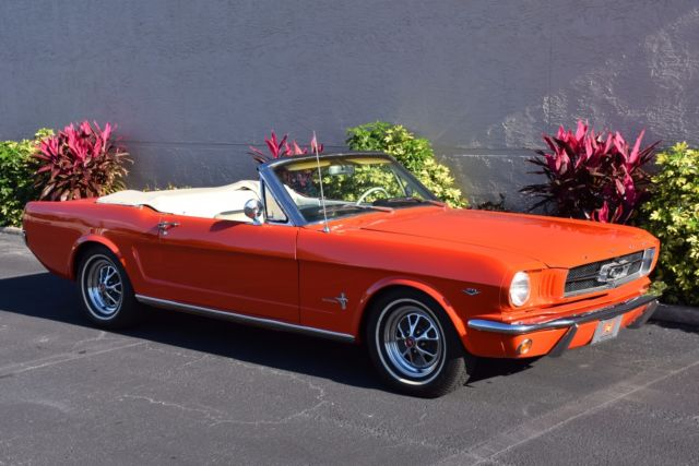 1965 ford mustang convertible power top 289ci ps 0 poppy. Black Bedroom Furniture Sets. Home Design Ideas