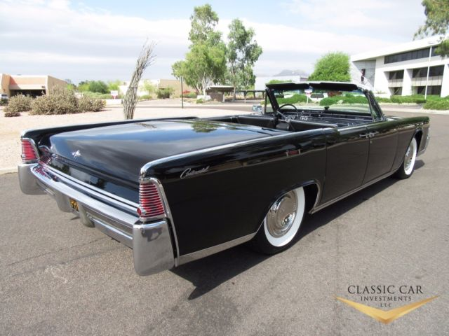 1965 lincoln continental convertible triple black. Black Bedroom Furniture Sets. Home Design Ideas