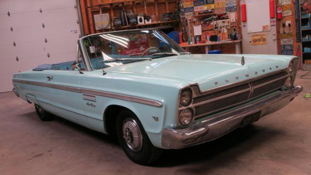 1965 Plymouth Sport Fury Convertible 318 230 H P V8 Ca Car