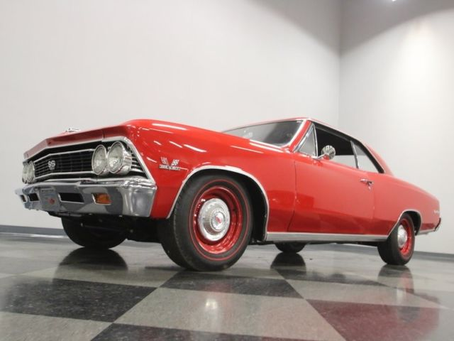 1966 Chevrolet Chevelle SS 396 4957 Miles Regal Red Coupe