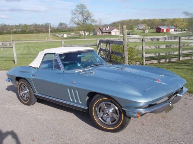 1966 corvette stingray convertible matching 327 manual 4 speed 2 tops excond for sale. Black Bedroom Furniture Sets. Home Design Ideas