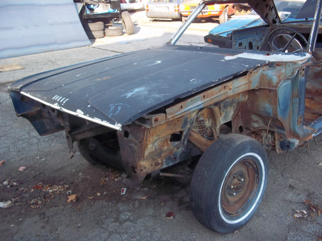 1966 Dodge Coronet Project car garage find drag car rolling