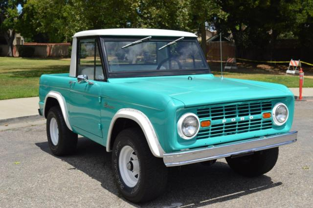1966 ford bronco half cab runs great beautiful truck for sale ford bronco beautiful half cab. Black Bedroom Furniture Sets. Home Design Ideas