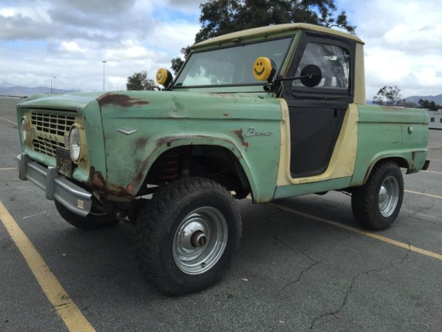 1966 Ford Bronco U14 Original Half Cab Roadster Truck For