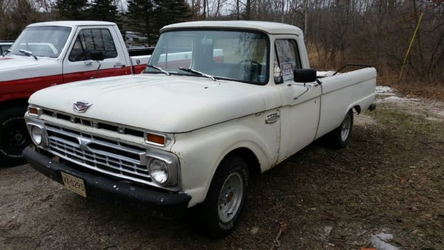 1966 Ford F100 2 WD Truck 289 V8 4 speed manual transmission