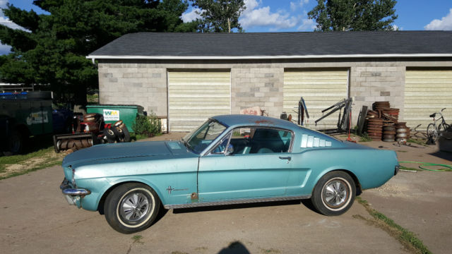 1966 ford mustang 2 2 fastback all original barn find for. Black Bedroom Furniture Sets. Home Design Ideas