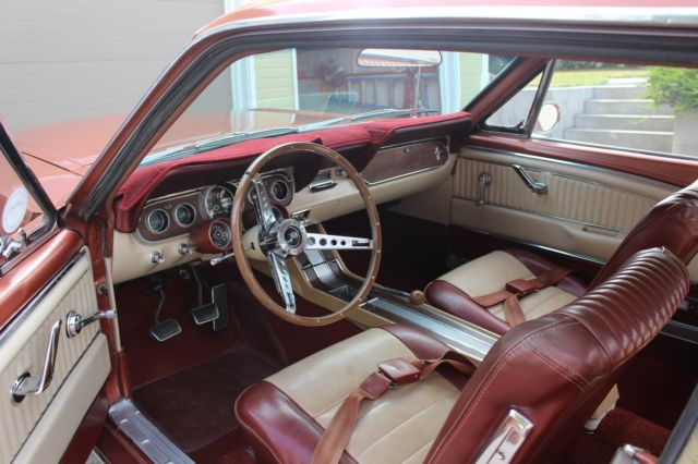 1966 mustang restored emberglow pony interior rally pac very correct rust free for sale ford. Black Bedroom Furniture Sets. Home Design Ideas