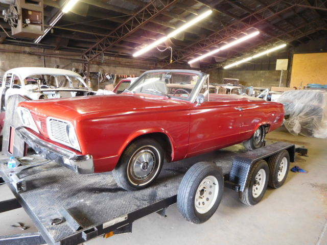1966 Plymouth Valiant Convertible Signet Project Car Barracuda Rag