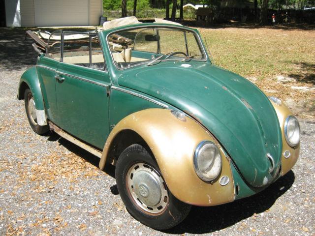 Volkswagen Convertible Vw Beetle Bug Barn Garage Find Project No Reserve