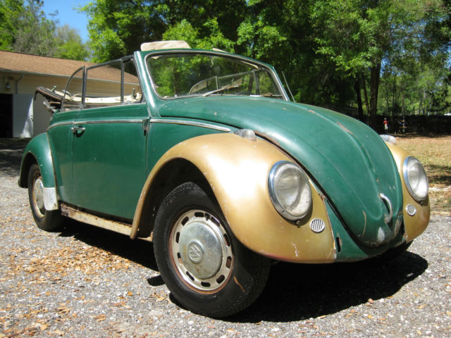 1966 volkswagen convertible vw beetle bug barn garage find. Black Bedroom Furniture Sets. Home Design Ideas