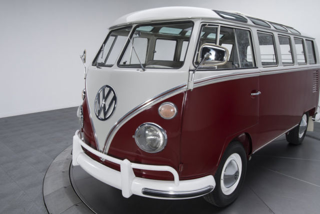 1966 volkswagen kombi 21 window bus 93075 miles burgundy for 1966 21 window vw bus