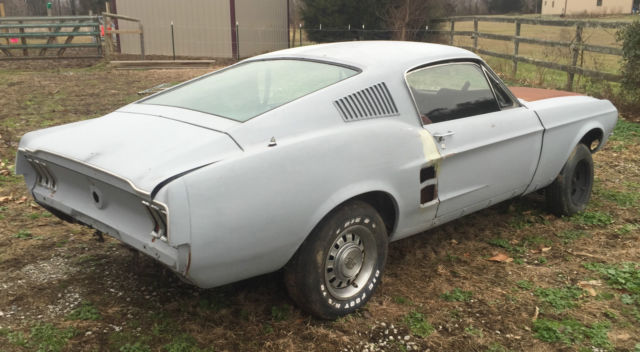 1967 1968 Mustang Fastback A Code Acapulco Blue Project