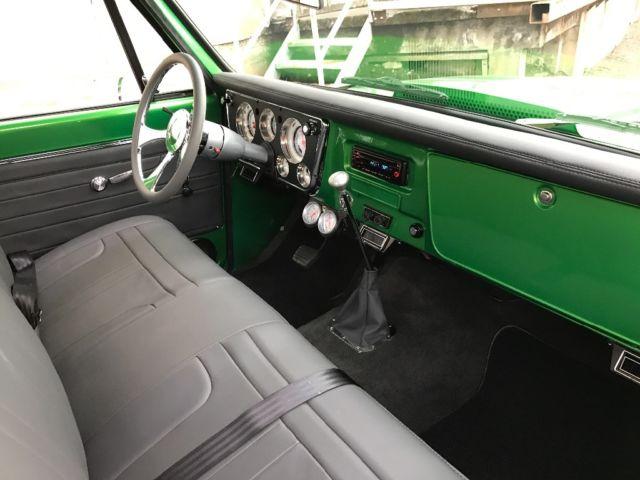 1967 c 10 short bed big block show truck custom leather - Custom leather interior for trucks ...