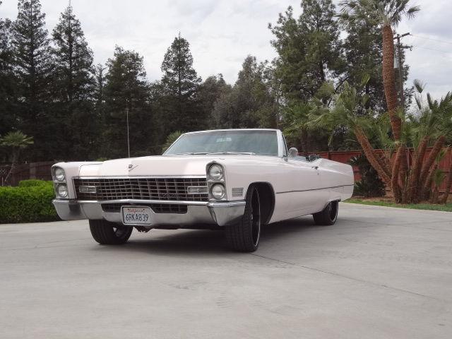 Cadillac Coupe Deville Convertible Custom Rims Clean California Car on 1966 Cadillac Deville Convertible Top Motor