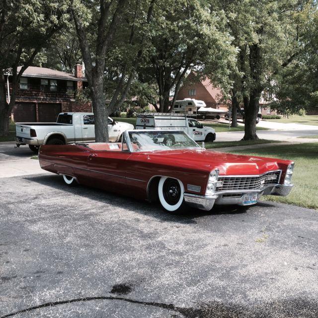1967 Cadillac Deville Bagged Slammed Convertible Rat Rod