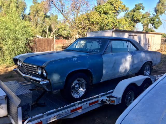 1967 Chevelle Factory Bench Seat 4 Speed Rare 2 Door Hard