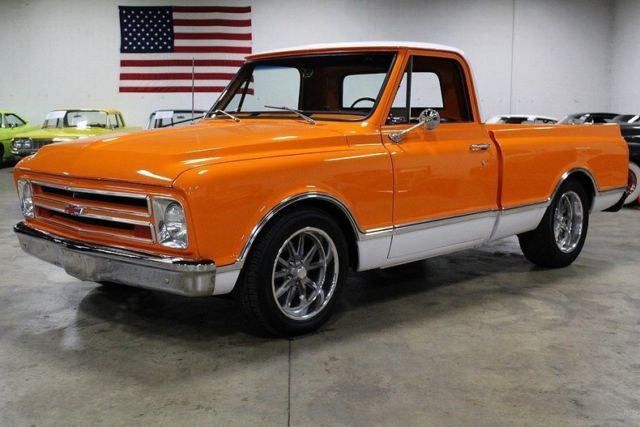 1967 chevrolet c10 76155 miles orange pickup truck 6 0. Black Bedroom Furniture Sets. Home Design Ideas