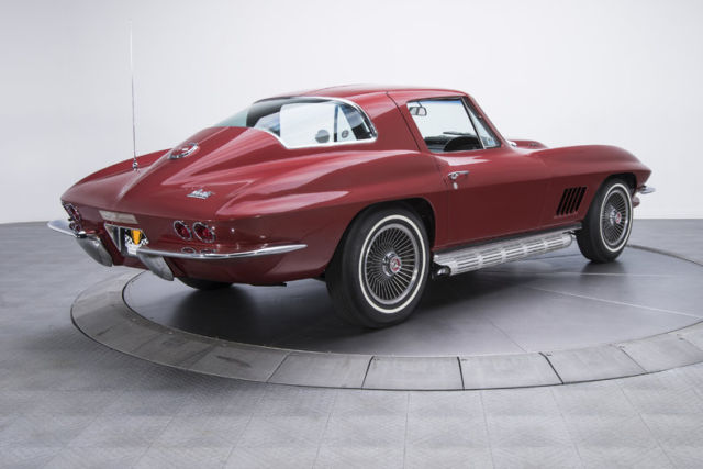 1967 chevrolet corvette 42554 miles marlboro maroon coupe 427 435 hp turbo jet for sale. Black Bedroom Furniture Sets. Home Design Ideas