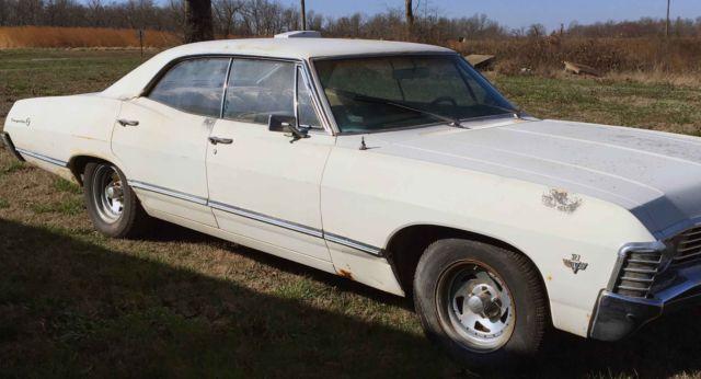 1967 chevrolet impala 4 door hard top supernatural project car for sale chevrolet impala 4. Black Bedroom Furniture Sets. Home Design Ideas