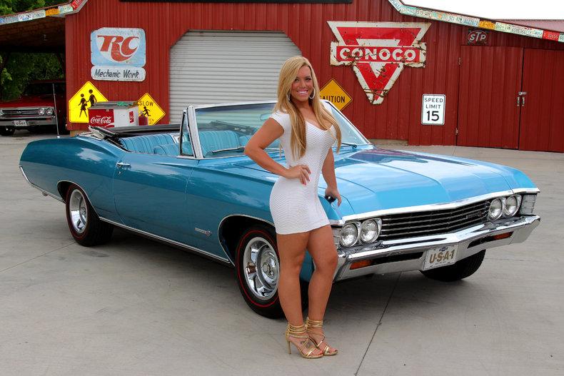 1967 Chevrolet Impala Ss 396 Marina Blue Convertible 396