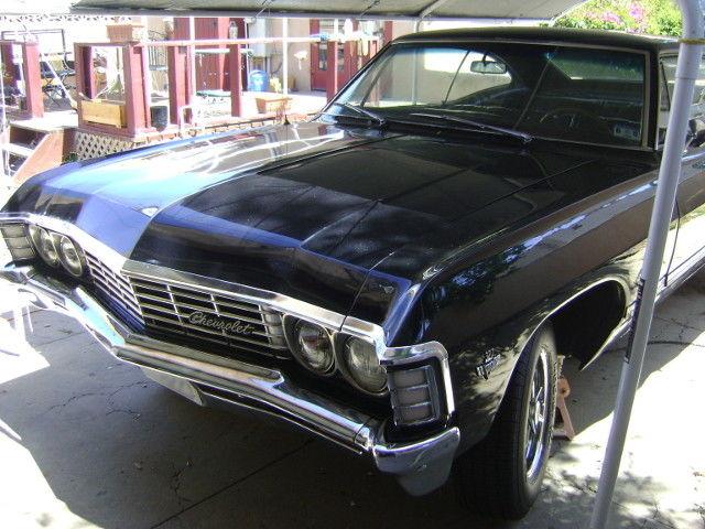 1967 chevy impala hardtop black 2 door for sale chevrolet impala 1967 for sale in santa maria. Black Bedroom Furniture Sets. Home Design Ideas