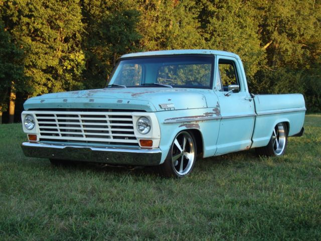 1967 ford f 100 pickup patina crown vic suspension 4 6 2 for Ford truck motors for sale